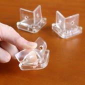 兒童防護防撞角帶螺絲防撞墊桌子護墻角嬰兒玻璃透明桌角護角保護套子 4個裝 直角款
