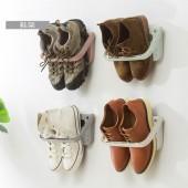 創意壁掛式粘貼鞋架家用可折疊掛式鞋架浴室掛墻鞋子斜坡拖鞋收納架子TM17011