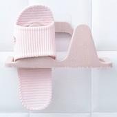 粘貼鞋架浴室壁掛式墻上拖鞋架子家用立體省空間駝峰塑料貼片拖鞋架