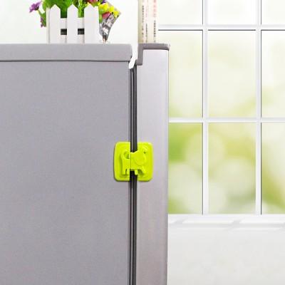 兒童柜子櫥柜鎖保護鎖寶寶冰箱塑料防護小狗鎖扣嬰兒防開防夾抽屜冰箱防護