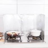 廚房防油擋板煤氣灶臺隔油紙隔熱擋鋁箔油煙板做飯炒菜防油濺擋板