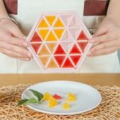 家用創意六邊形冰塊模具冰箱冰盒 DIY做冰格制冰盒24格帶冰塊儲存盒