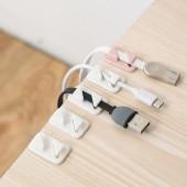 塑料電線固定理線器自粘集線器粘貼式壁掛電線收納夾卡扣卡子(12個裝)