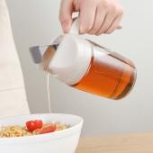廚房家用奶瓶玻璃油壺廚房用品湯壺煎炸家用玻璃油壺(300ML)