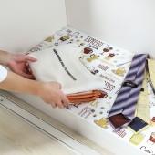 櫥柜貼紙廚房貼紙防水防油自粘防潮墊紙衣柜貼紙家居可裁剪抽屜墊 長款 45*200cm