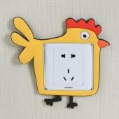 開關貼現代簡約創意卡通可愛開關墻貼夜光貼紙墻壁插座裝飾保護套