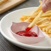 樹葉PP材質調味碟家用陶瓷圓形醬油碟醋碟廚房蘸料碟醬料碟日式調料碟