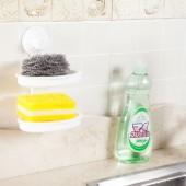 肥皂盒吸盤壁掛式肥皂盒衛生間創意塑料瀝水皂盒雙層置物架香皂盒 1126