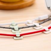 固線夾子桌面墻面電線固定自粘線夾線扣線卡子網線整理彩色卡扣理線器 18個裝