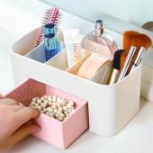 化妝品收納盒多功能梳妝臺收納盒小首飾盒梳妝臺收納盒分格抽屜式雜物收納盒BN-5603