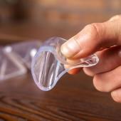 嬰幼兒防撞角防護桌角保護套寶寶透明桌子包角護角茶幾臺角防護套(四個裝)不帶笑臉款