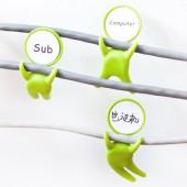理線器創意可愛卡通線卡數據線收納繞線集線器電線人形網線固定器(3個裝)CC-582
