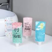 創意旅行乳液分裝袋可愛卡通洗發水分裝瓶面霜化妝品液體收納迷你