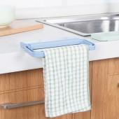 多功能廚房水槽免打孔掛毛巾架北歐風粘貼式毛巾掛衛生間毛巾掛架
