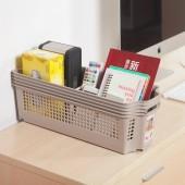 日本進口家居食品零食收納籃桌面收納筐可疊加置物籃子雜物收納盒(中深窄型)