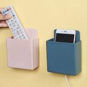 多功能壁掛式收納盒免打孔浴室化妝品噴霧置物架廚房用品儲物盒(方形大號)