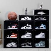 鞋子收納盒家用球鞋鞋子收納鞋柜抽屜式收納神器透明塑料鞋盒(大號)單個裝
