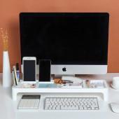多功能鍵盤收納架多格式整理雜物儲物架電腦辦公桌省空間置物架