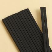 家用合金筷子廚房高檔耐高溫易清洗防滑防霉筷日式料理專用尖頭筷子(條紋款(10雙1包)