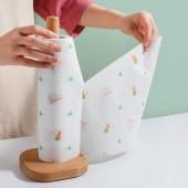 可水洗不易沾油懶人抹布廚房無紡布干濕兩用家用紙清潔布一次性加厚洗碗布(50/卷)