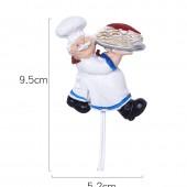 卡通樹脂廚師掛鉤粘貼式廚房浴室免打孔強力粘鉤家用室內裝飾掛鉤