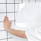 廚房透明防油貼紙防水防潮耐高溫自粘油煙機柜灶臺后墻壁瓷磚貼(透明款)