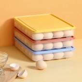 冰箱雞蛋收納盒家用分格大容量雞蛋盒塑料架托可疊加帶蓋雞蛋保鮮盒(24格)