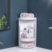 可旋轉多層衛浴置物架掛立兩用防水洗漱臺三角架廚房調料瓶收納架子(特大號)