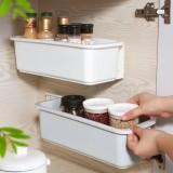 抽拉式櫥柜收納盒浴室用免打孔夾縫窄縫收納架廚房壁掛式置物架子