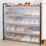 多層鋼管組裝防塵鞋柜收納省空間鞋架簡易收納架家用宿舍鞋架子(帶門防塵款)