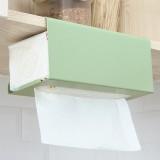 鐵藝櫥柜門懸掛紙巾掛架壁掛廚房用紙收納架子免釘衛生間紙巾架置物架